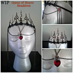 Work In Progress, Queen of Hearts headdress by SouthernAllure