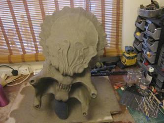 Lifesize Predator Head bust  Sculpt Top by VijayVega