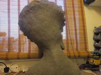 Lifesize Predator Head bust  Sculpt Back View by VijayVega