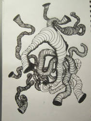 InkTober 2 Worm Holes by VijayVega