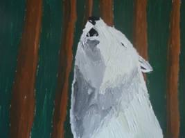 Forest Howl, acrylic on canvas by ArcticIceWolf