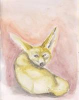 Watercolor Fennec Fox by ArcticIceWolf
