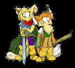 Flecha and Zaron by RociDrawings97