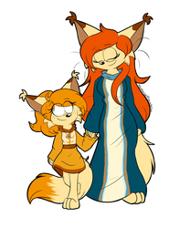 Mother and daughter by RociDrawings97