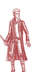 Rough red Jedi submissio by vamoosemoose