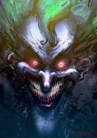 Speedpainting - The Joker mAdnEsZ by MitchGrave