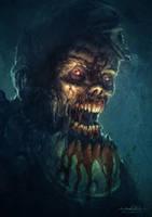 Zombie Chuck by MitchGrave