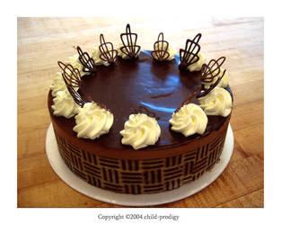Chocolate Truffle Mousse Cake by child-prodigy