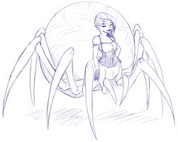 Goth Spidergirl by LukkiStarr