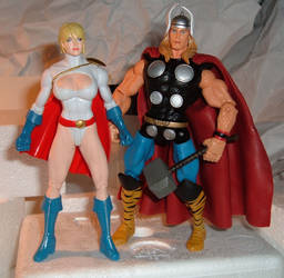 Power Girl and Thor by HSQ-Vision