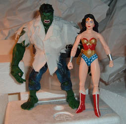 the Hulk and Wonder Woman by HSQ-Vision