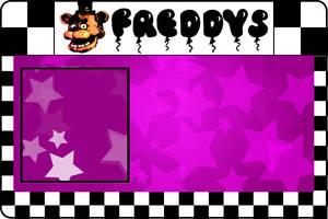Freddy Fazbear's ID card (Blank template) by thechosenone12