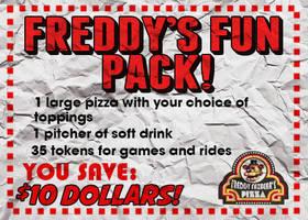 80s Freddy Fazbear's Pizza Coupon by thechosenone12