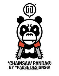 A Bathing Chainsaw Panda by Pause-Designs
