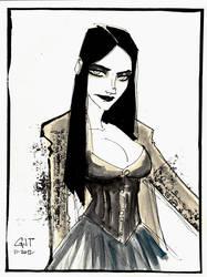 SKSat - Goth Girl by GilTriana