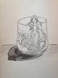 Mermaids in a Cup by darkxskies