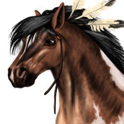 Horse by pschosilver