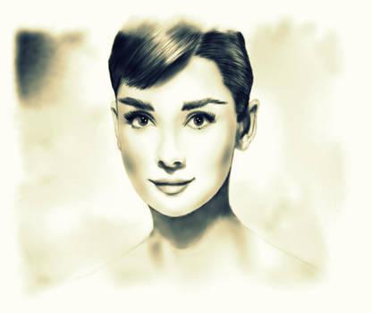 Audrey Hepburn by pschosilver
