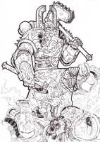 Khorne warrior by Teanamora