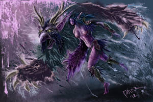 Word of Warcraft-Night Elf Moonkin by Omar-Atef