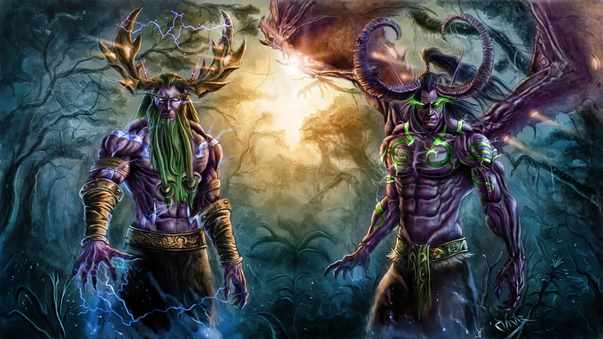 The Brothers Stormrage - Warcraft Tribute. by Omar-Atef