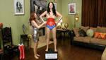 Wonder Woman and the Art Gallery by staregazerrod