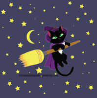 Witch Cat by TheKohakuDragon