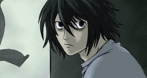 Death Note L by TheKohakuDragon