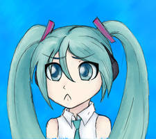 Sad Miku by TheKohakuDragon