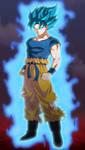 GOKU SSJBLUE DRAGON BALL SUPER BROLY by AlejandroDBS