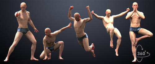 5-pack Male Poses by inspiring-references