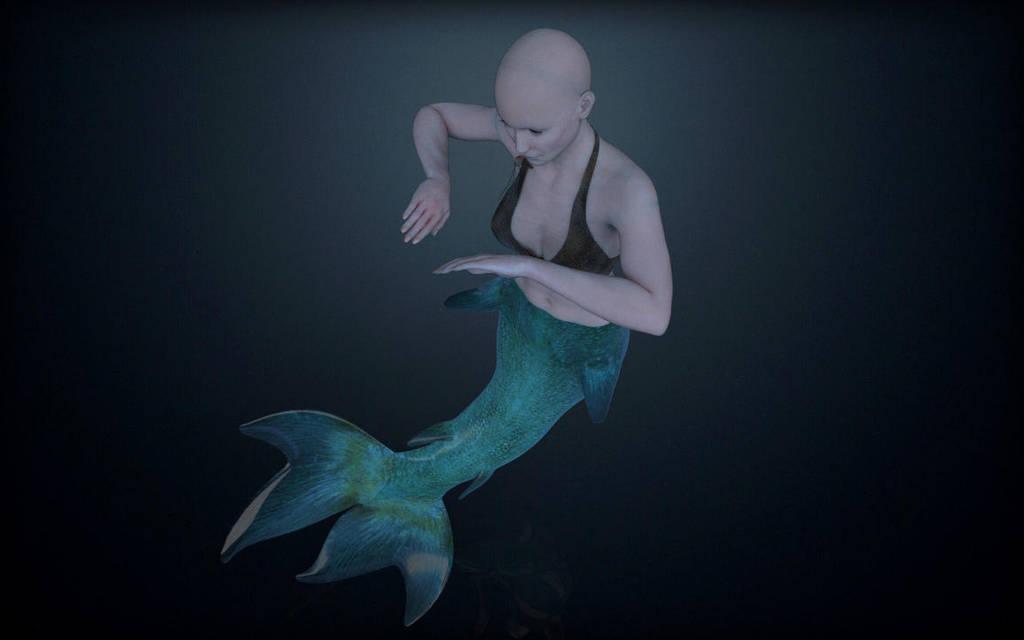 Mermaid WIP by inspiring-references