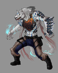 Modern Wolf God by SlainDragon