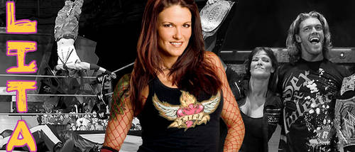 WRESTLING BANNERS: 32. Lita by CreamCrazy