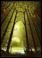 Entrance To The Sacred Tree by Roseum