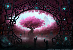 Entrance To The Sacred Tree II by Roseum