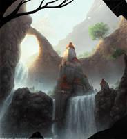 Waterfall Castle by Roseum