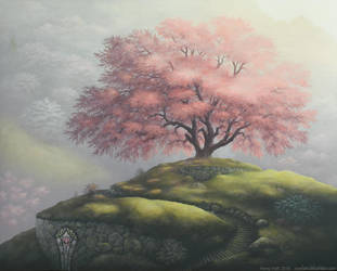Cherry Blossom Hill by Roseum