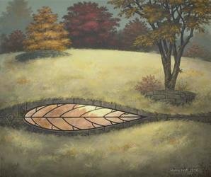 Leaf Window by Roseum