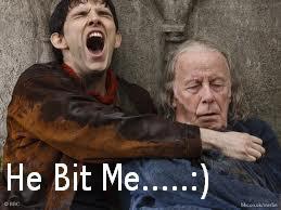 Merlin screaming by Painted-Roses-x
