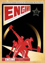 engine soviet art by colgreyis