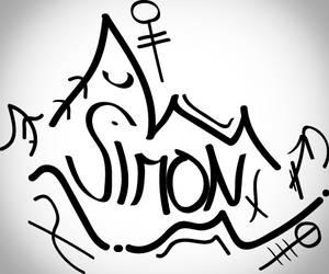 Graffiti name by SimonVV