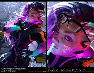 sombra overwatch wip 1 by Jiyu-Kaze