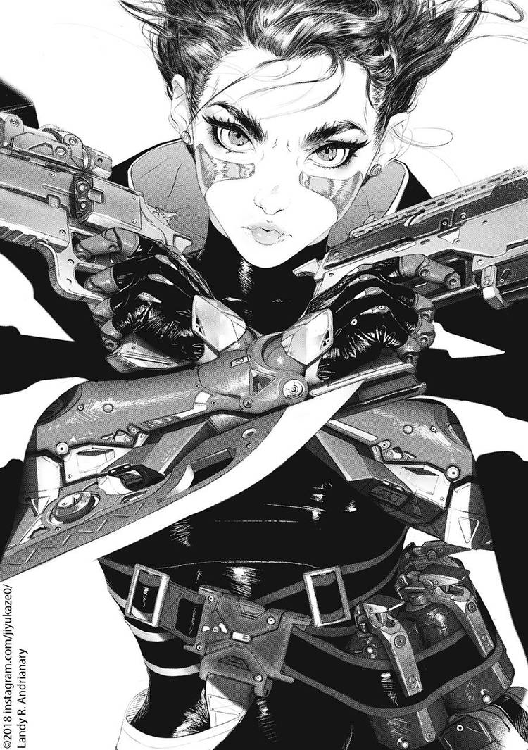 Gunnm (battle angel Alita) by Jiyu-Kaze