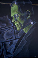 Karloff as The Monster by monsterartist