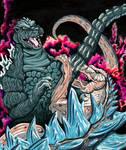 Godzilla vs GINO by monsterartist