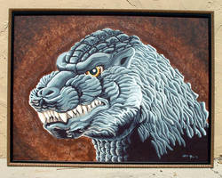 My Biggest Godzilla by monsterartist