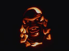 Glowing Gillman by monsterartist