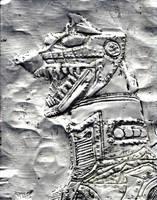 Silver MechaGodzilla by monsterartist