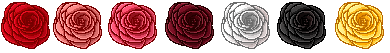 Pixel icon roses (F2U) by GzanyKat